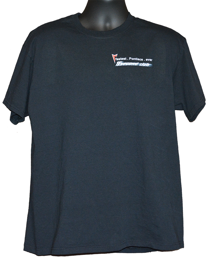 Pontiac 11 second club tshirt black front
