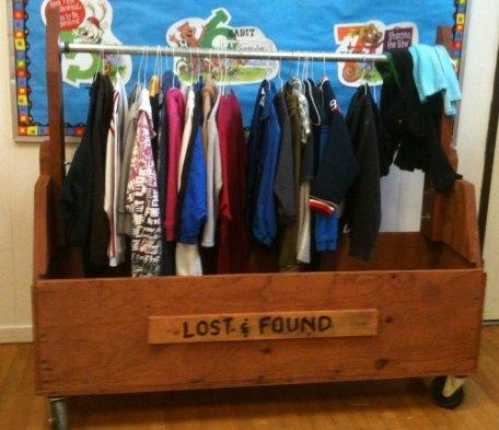 lost & found bin