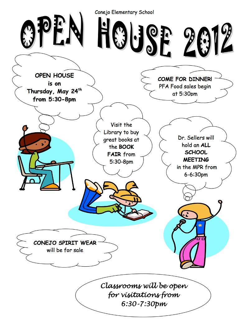 2012 open house flyer