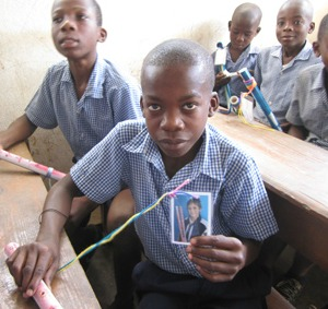 Haiti boy with Johnny flute