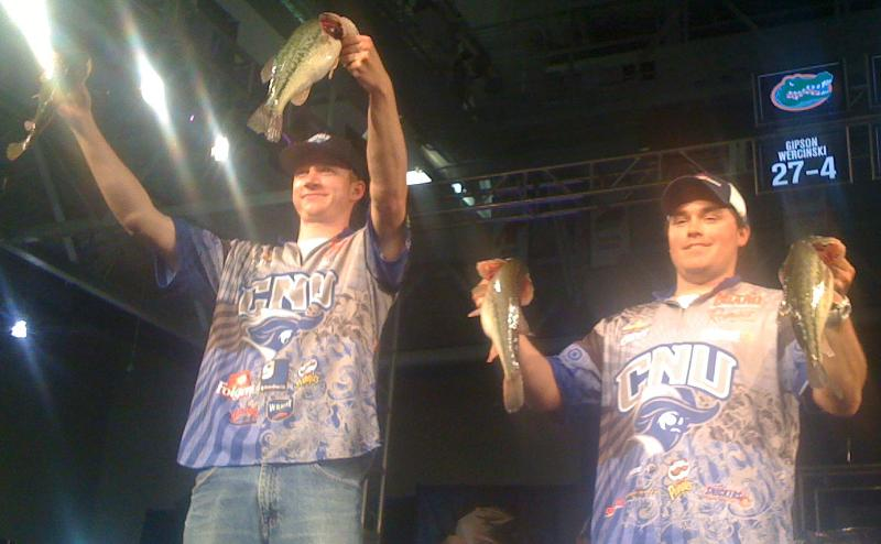 CNU's Bass Team Finishes 3rd in Nation