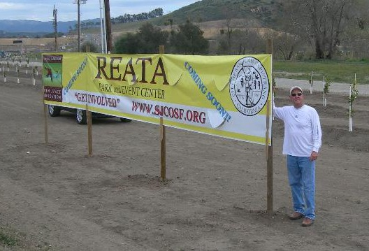 Reata Park banner