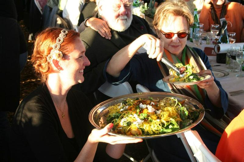 Alice Waters at Fall Farm Supper