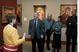 Friends enjoy exclusive curator-lead tour