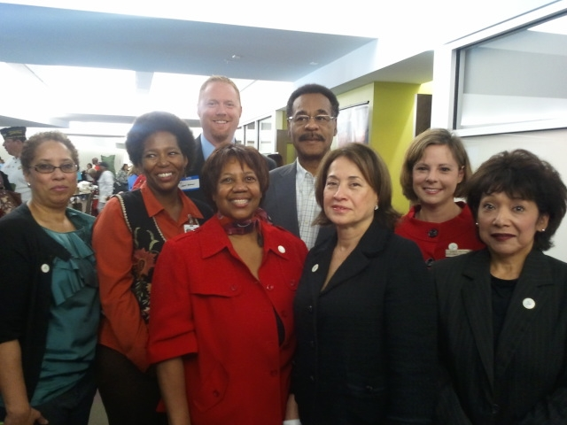 Rep. Holsman & Congressman Cleaver with the organizing committee of the event