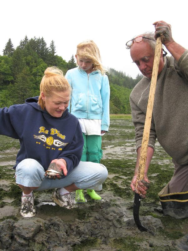 Oyster Digging