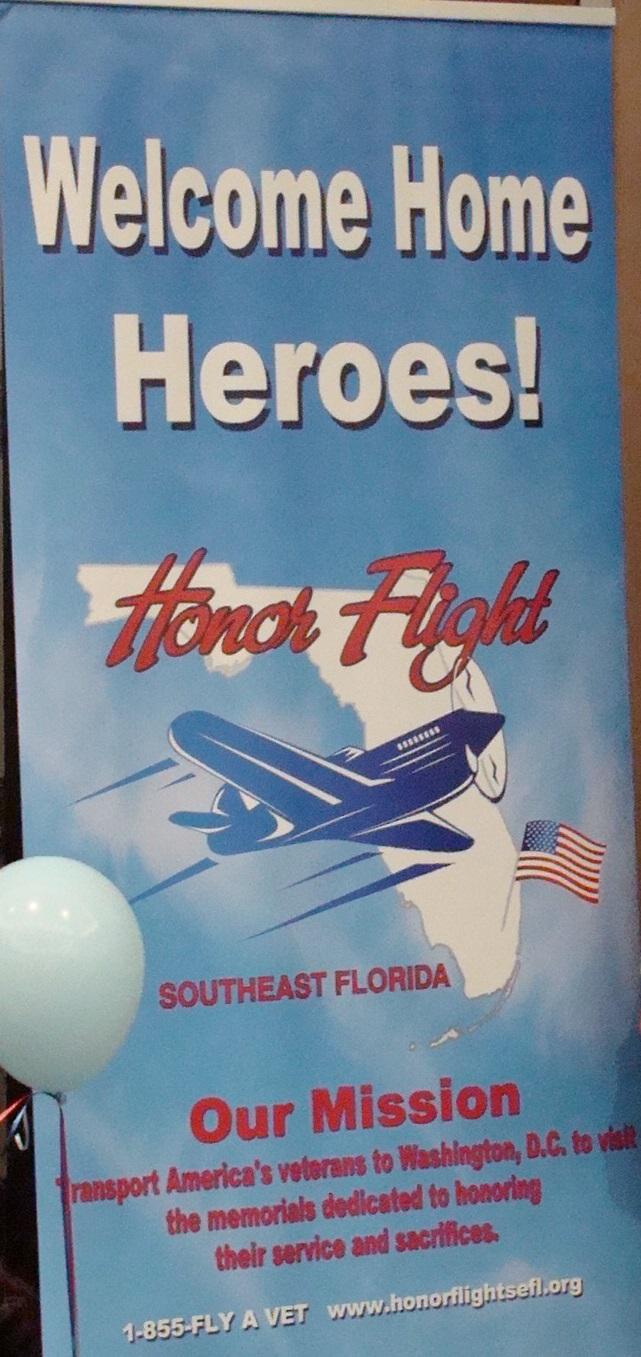 Honor Flight Sign