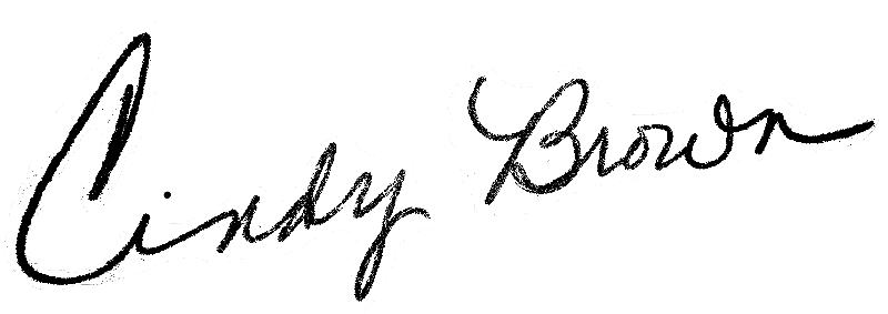 Cindy brown-signature