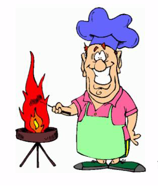 cook grill fire picnic chef