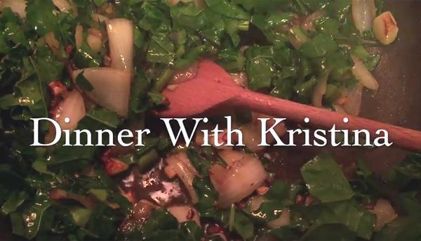 dinner with Kristina