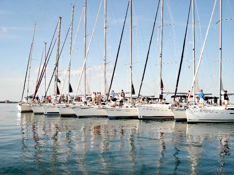 Team Bldg All Boats Anchored