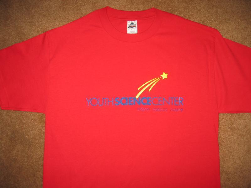 red tee shirt