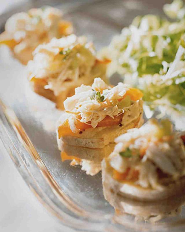 Crab salad toasts