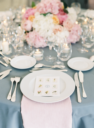 2016 wedding place setting