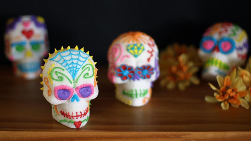 Sugar halloween skull candy