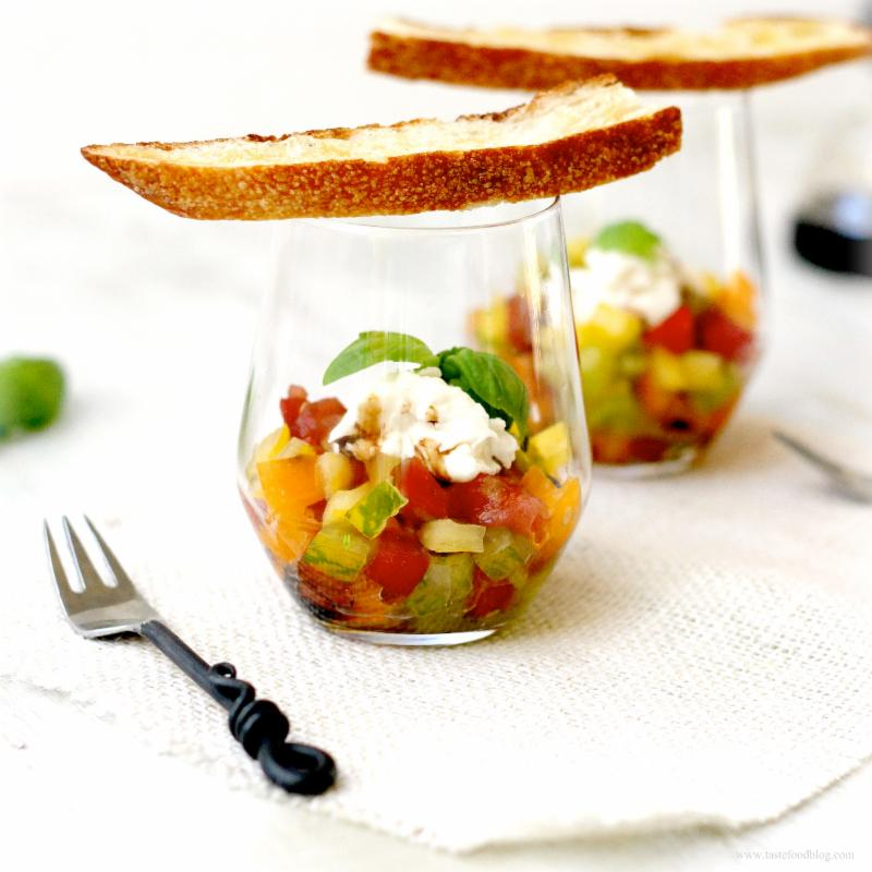 Heirloom Tomato App Cups