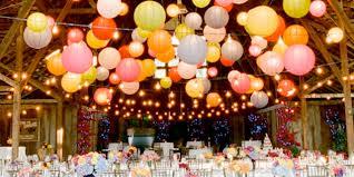 Colorful Lanterns at wedding