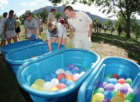 water balloon relay