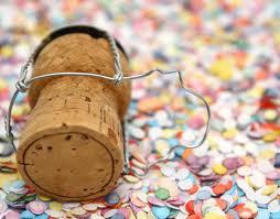 Champagne Cork with Confetti