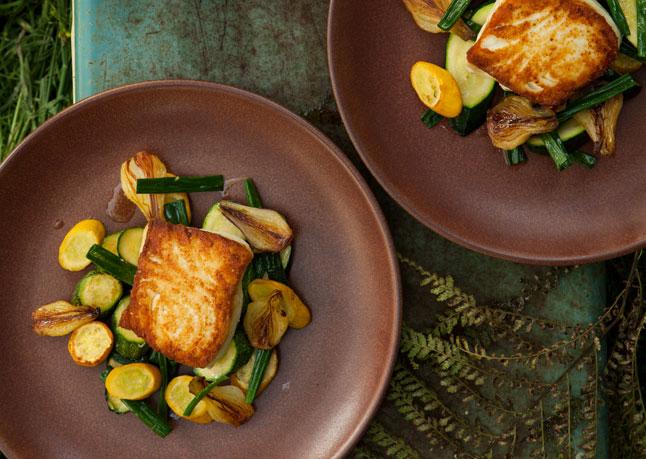 halibut fm veggies