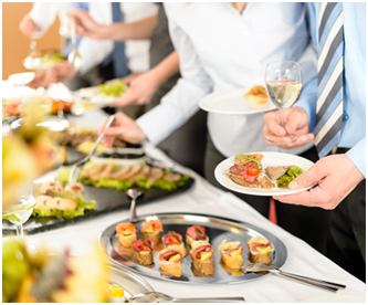 Corporate party buffet