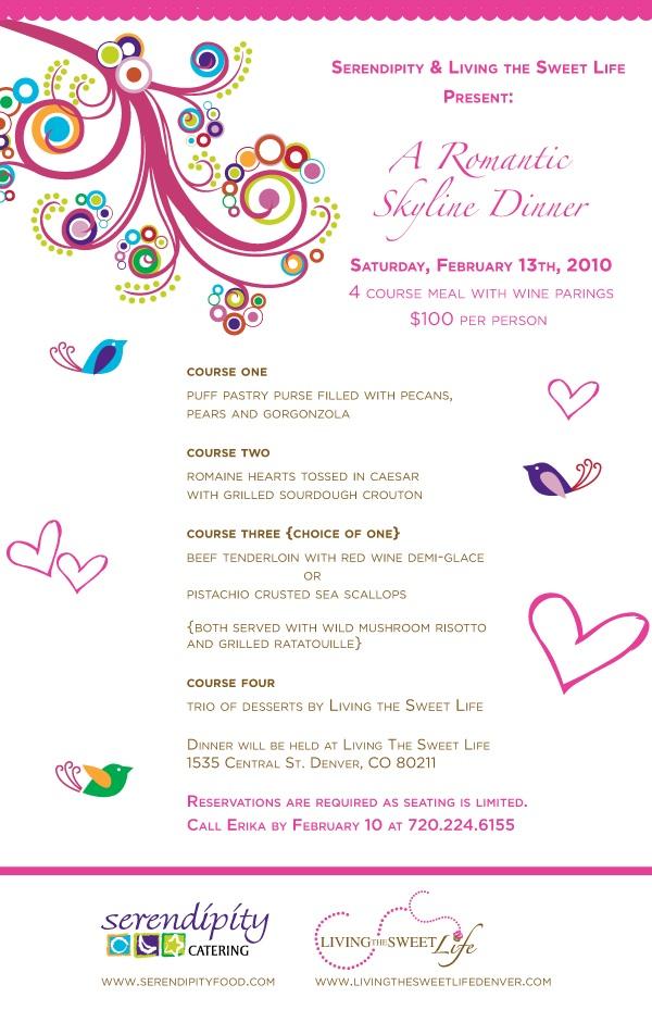 V Day Dinner Invite
