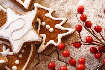 Gingerbread Cookies Berries