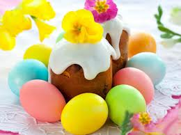 Easter Cake w/ Dyed Eggs