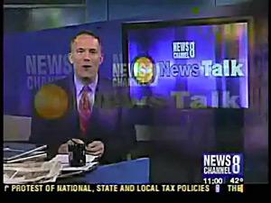 Stevens on Channel 8 News