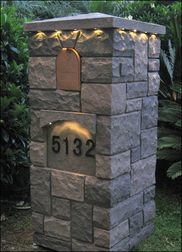 Stone Mailbox Pillars : New products from fauxpanels