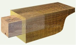Inside of pergola beam for extra strength
