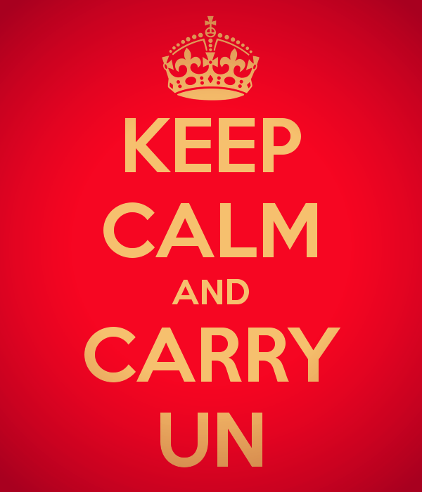 KEEP CALM AND CARRY UN