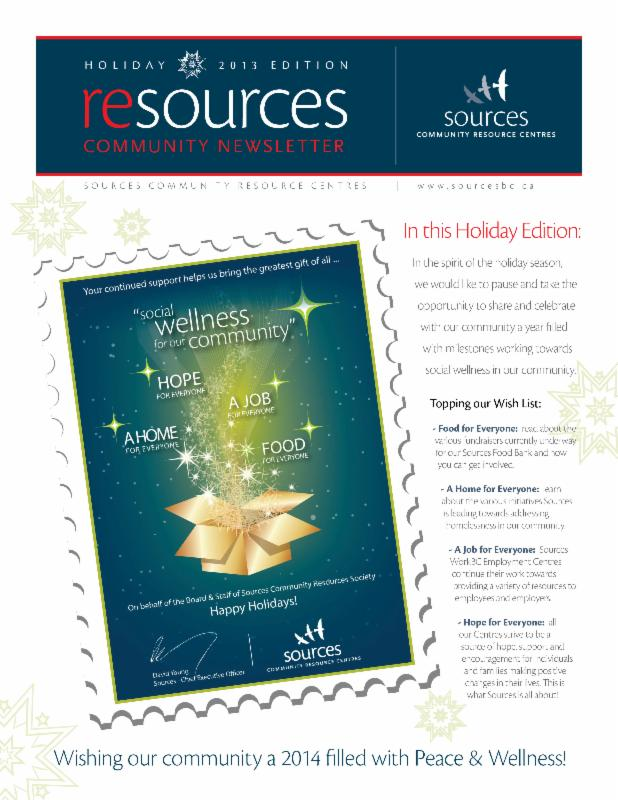 Sources Newsletter | Holiday Edition 2013