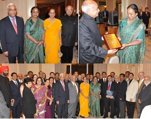 Indian Lok Sabha Speaker Meira Kumar feted in Miami, May 2011