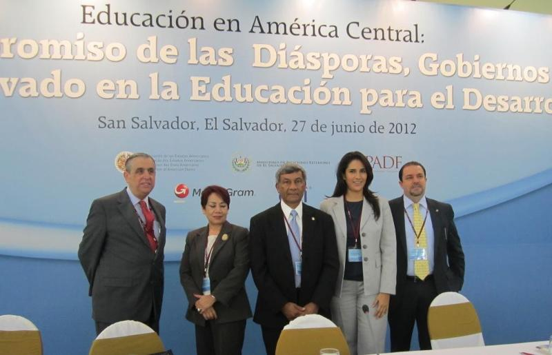GOPIO President Ashook Ramsaran with Organization of American States panelists