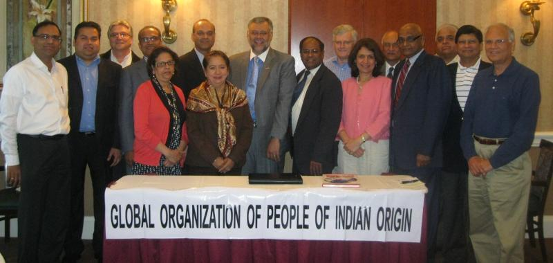 GOPIO-CT organizers with Ambassador Rasool