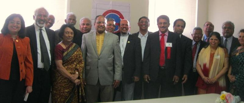 Issac John Ptaniparambil with officials of GOPIO, the Kerala center and World Malayalee Council