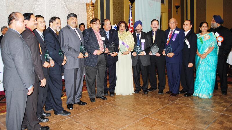 NFIA award recipients with NFIA officials after the award ceremony
