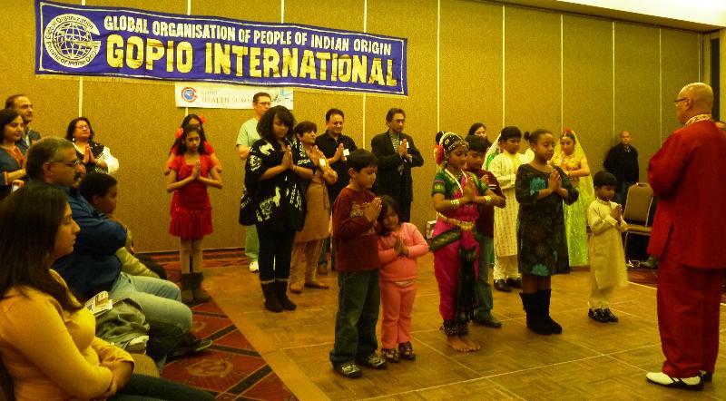 GOPIO Health Children's Day with Master Del Pe