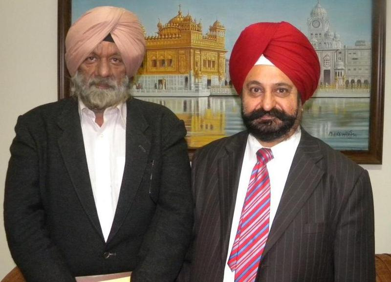GOPIIO's Harry Walia with Prof. Manjit Inder Singh of Punjab Unviersity