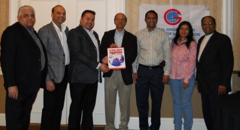 GOPIO-CT officials with seminar speaker Cecil Nazareth