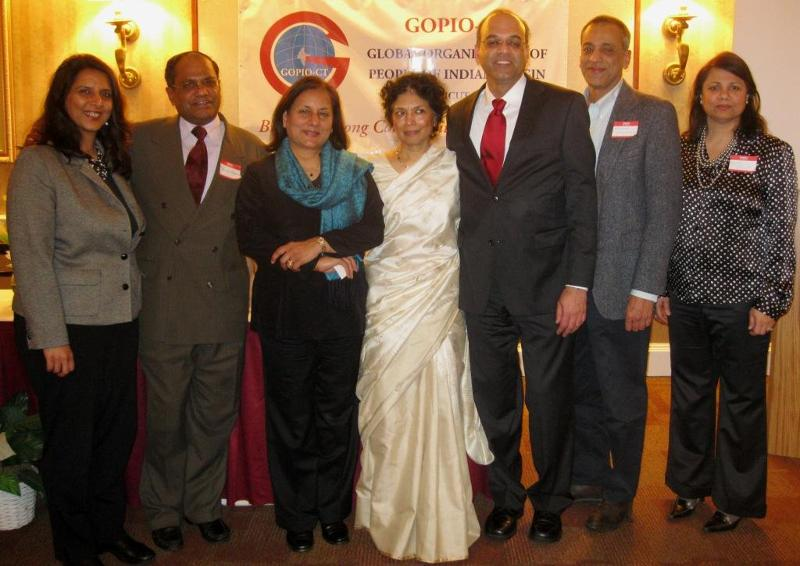GOPIO Officials with Dr. Maya Chadda, March 11, 2011
