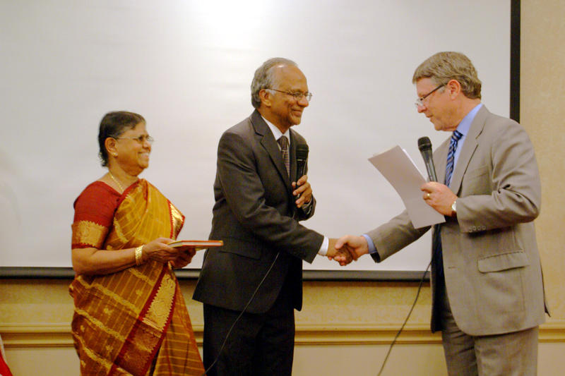 Sam Kannappan after taking oath of office as member of TX Prof. Engineers Board