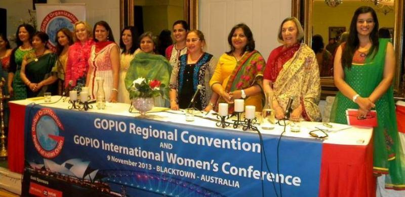 GOPIO International Second Women  Conference organizers and speakers