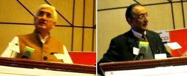 GOPIO Conf Delhi - Minister SalmanKhursheed & Dr.Amit MitraSpeaking