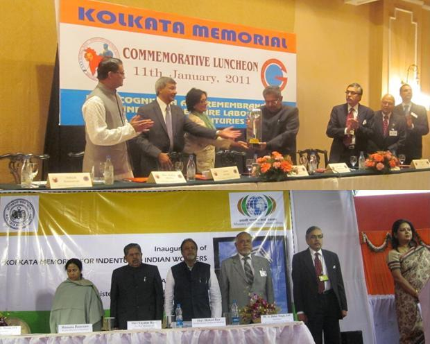 Kolkata memorial Launch Luncheon and Inauguration, Jan. 11, 2011