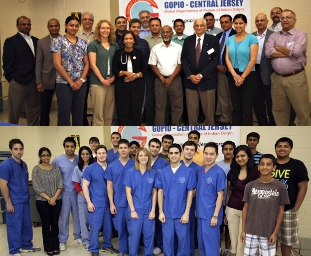 GOPIO Central Jersey Health Camp - Health Care Volunteers and Organizers