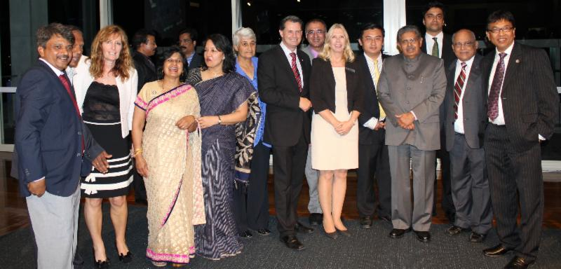 GOPIO-Brisabane officials and dignitaries with Min.Ravi