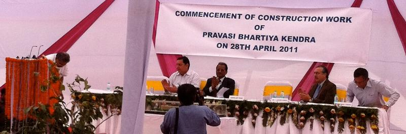 Vayalar Ravi at the Pravasi Bharatiya Ground Breaking, April 28, 2011