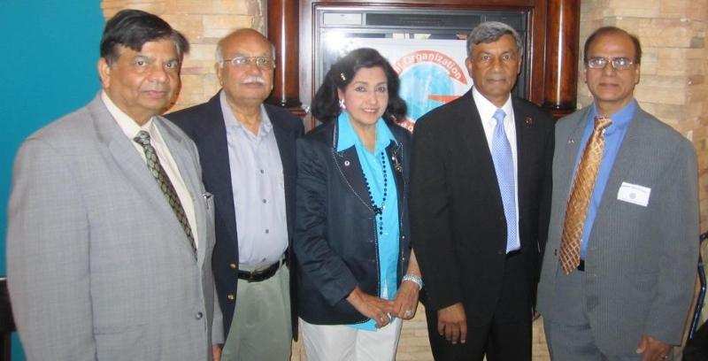 GOPIO International and chapter officials at the meeting on August 25, 2012